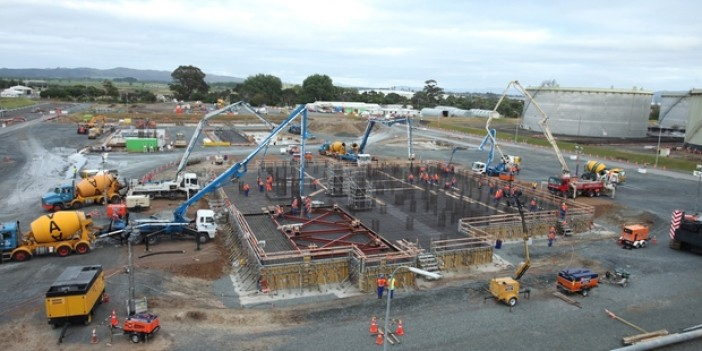 Our Projects - Marsden Pt Oil Refinery - NZ's Largest Single Pour | Allied Concrete