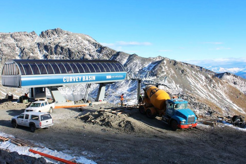 Remarkables Ski Field - Curvey Basin Chairlift Pour - Allied Concrete